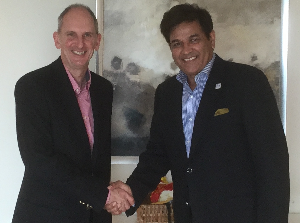 Peter meeting Mr Rajesh Tomar, President CPSAI India