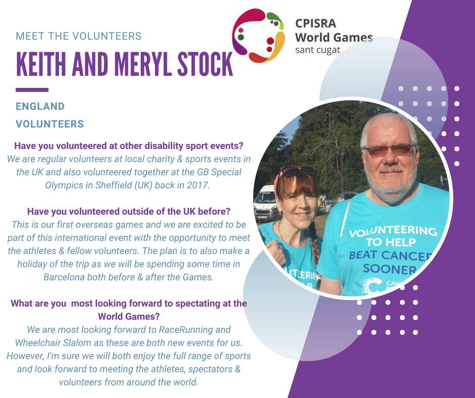 Keith and Meryl Stock volunteer profile