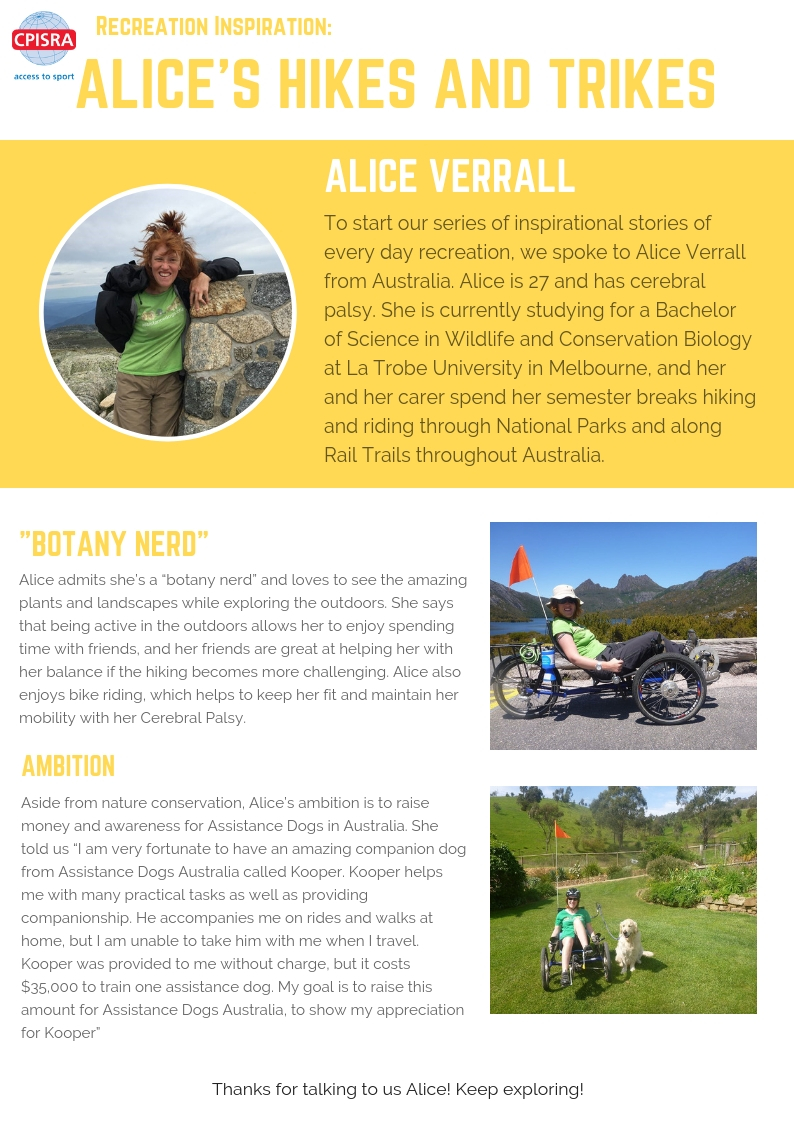 Alice's hikes and trikes